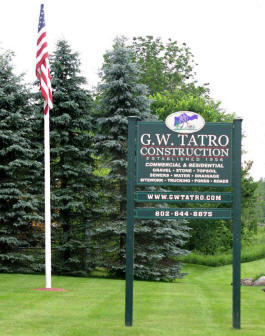 Cutting Edge Graphics : GW Tatro Sign
