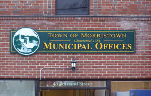 Town of Morristown, VT sign